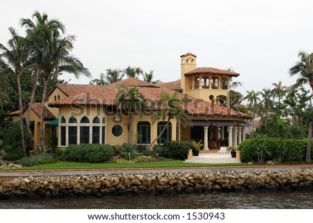 Luxury mansion in exclusive part of Fort Lauderdale known as small Venice.