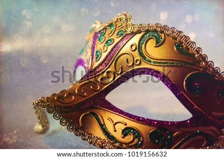 Luxury Masquerade venitian carnival mask, female theatrical