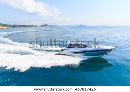 luxury motor boat, rio yachts italian shipyard #469817426