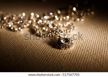 luxury necklace with diamonds