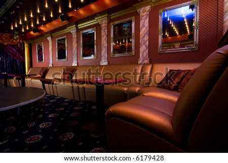 Luxury night club interior