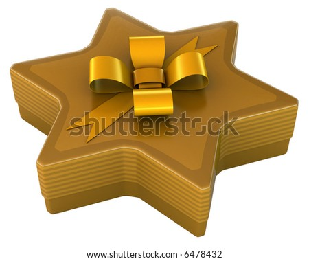 Luxury of box gift in format of star