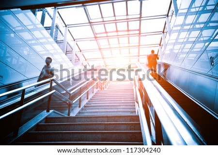 Luxury office buildings, indoor stairs