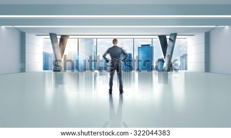 Luxury office of a successful confident businessman