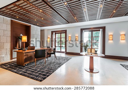 luxury office room interior