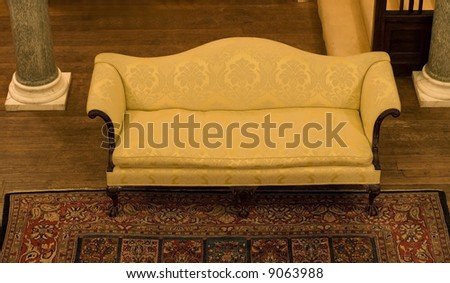 Luxury old couch in hall
