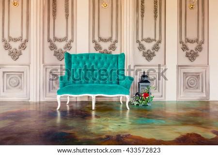 luxury old custle interior....