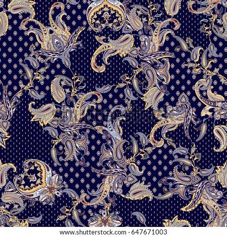 Luxury paisley multicolor design