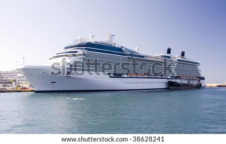 Luxury passenger big ship