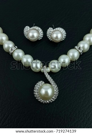 Luxury Pearl Lady fashion accessories Jewelry collections  - Necklace and earrings #719274139