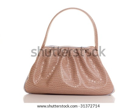 Luxury pink female bag