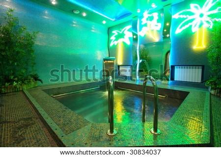 Luxury pool in modern hotel