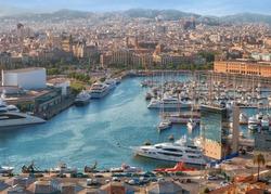 luxury port and quay, Barcelona, Spain