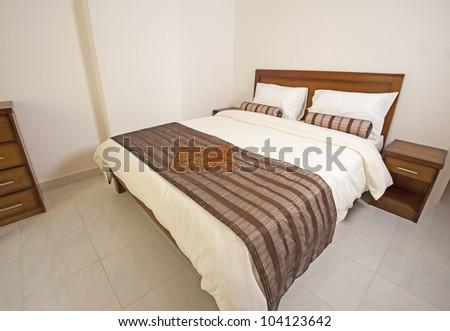Luxury show home bedroom showing interior design