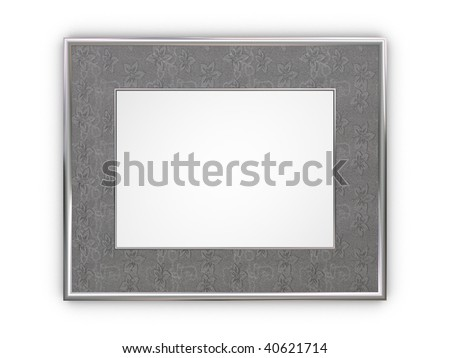 Luxury silver frame for photos