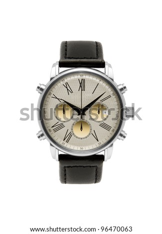 luxury silver man watch