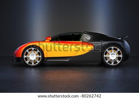 Luxury Sports car with studio lighting, 300 D.P.I image