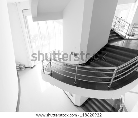 Luxury stairs of modern industrial building stock photo