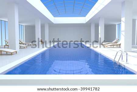 Luxury Swimming Pool 3d Render Stock Photo 39941782 Shutterstock