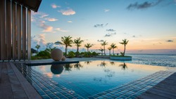 Luxury Swimming pool in front of beach