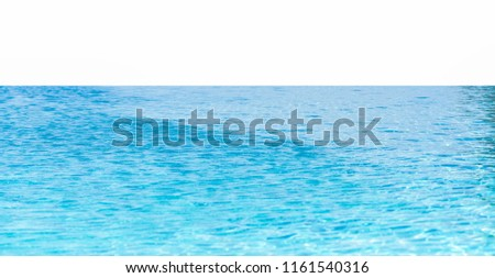 Luxury swimming pool on a white background.