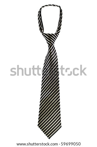 Luxury tie  isolated on white background