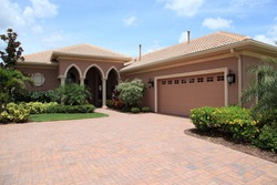 Luxury tropical model home