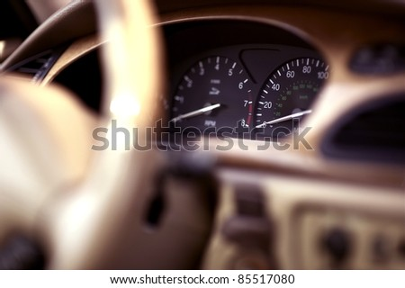 Luxury Vehicle Cockpit. Car Interior. Transportation Photo Collection