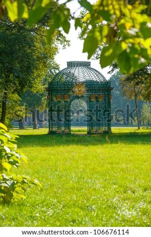 Luxury vintage gazebo in Sanssouci park in Potsdam, near Berlin, Germany