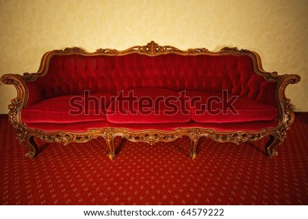 Luxury vintage red sofa