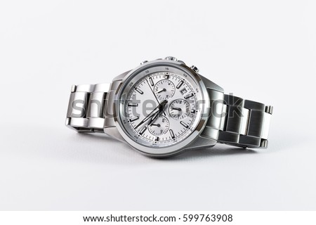 Photo of  luxury watch isolated on a white background