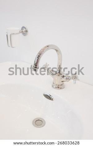 luxury water sink in bathroom