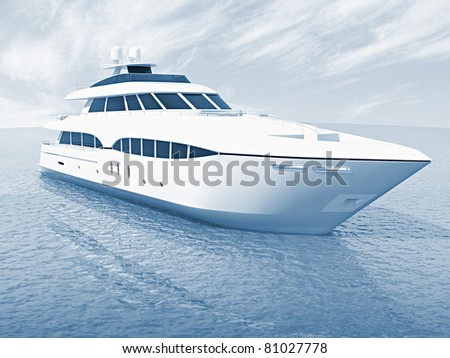 luxury white cruise yacht