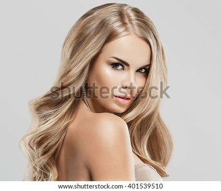 Shutterstock Luxury woman portrait with perfect hair and make-up blonde