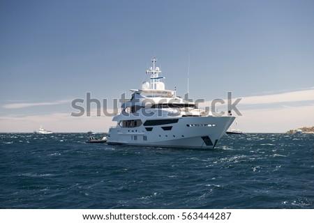 luxury yacht Zdjęcia stock ©