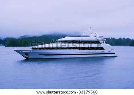 Luxury Yacht in Clayoquot Sound UNESCO Biosphere Reserve, Canada