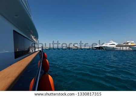 Luxury yacht sea #1330817315
