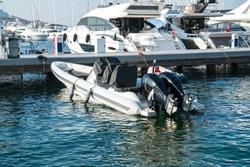 Luxury yachts and boats in Yalikavak Marina harbor. Bodrum – TURKEY