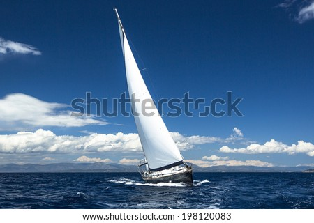 Luxury yachts Boat in sailing regatta