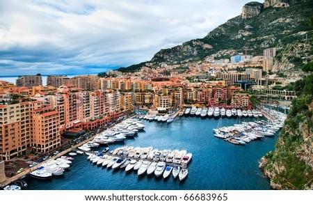 Luxury yachts in the harbor of Monaco #66683965