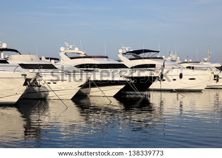 Luxury yachts in the marina of Marbella, Spain