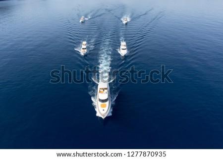 Luxury yachts on the sea #1277870935