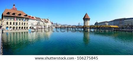 Luzern Panorama in a summer day, Switzerland