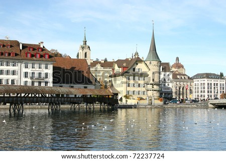 Luzern Switzerland - stock photo