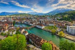 Luzern, Switzerland,top view