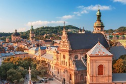 Lviv historival city center skyline, Wester Ukraine