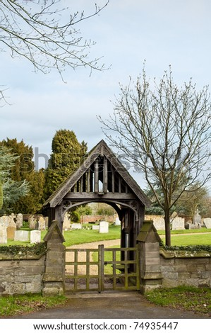 Lychgate at Church Yard Entrance for Corpse\'s