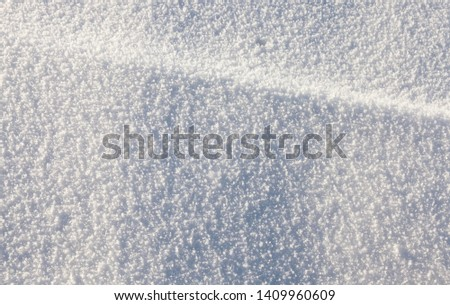 lying snow after the last snowfall. The picture was taken in the winter season.