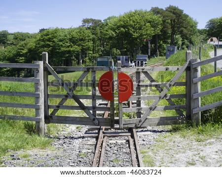 lynton and barnstaple narrow guage railway - stock photo