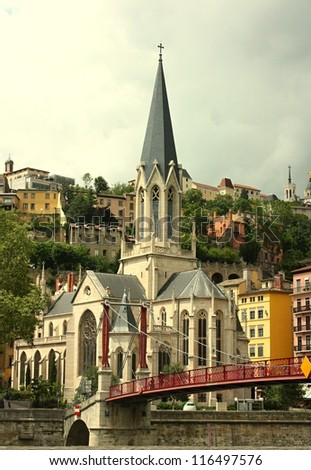Lyon church, France